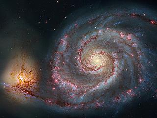 M51, свежая обработка данных космического телескопа