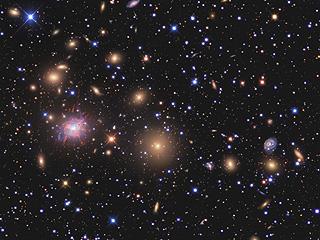 Галактики - скопления в Персее