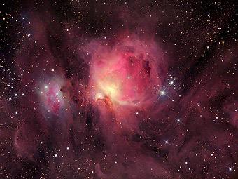 M42: газопылевая структура туманности Ориона