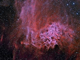 AE Возничего и туманность Пылающей звезды
