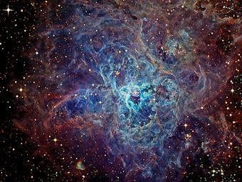 Космическая паутина туманности Тарантул