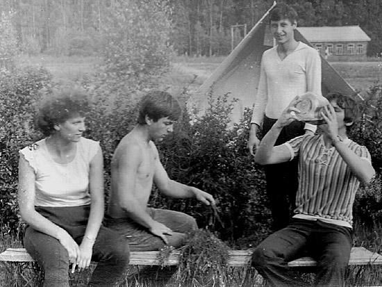 Во время полевой практики по ботанице на агробиостанции Ченки