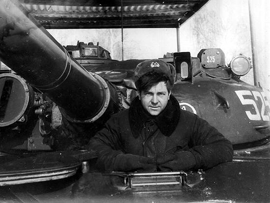 На танковом полигоне, Бобруйск, 1987 г.