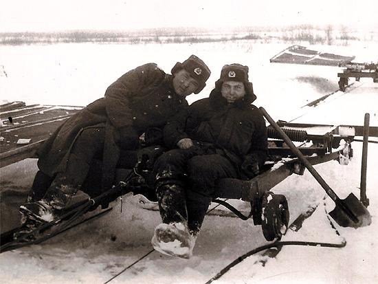 Расчитска мишеней от снега на полигоне, г. Бобруйст, 1987 г.