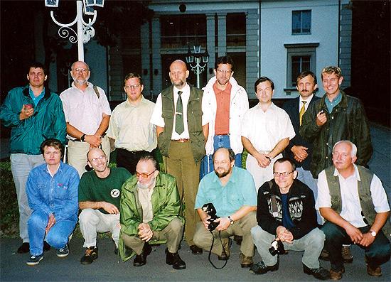 С иностранной делегацией во время экскурсии на правительственной резиденции ''Вискули'', 2000 г.