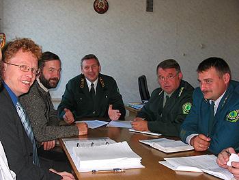 Во время FSC лесной сертификации, заседание у заместителя министра лесного хозяйства Беларуси Н.Т. Юшкевича, 2005 г.