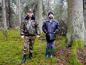 Во время FSC лесной сертификации, вместе с главным лесничим Пружанский лесхоза Дмитрием Козелом, 2009 г.