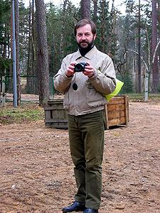 В Беловежской пуще во время фотосъемки, 2008 г.