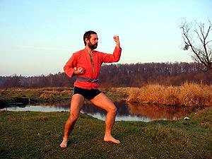 Физические занятия на реке Лесная в Беловежской пуще, 2007 г., 21 ноября