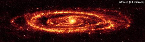 галактика ''Туманность Андромеды'' в инфракрасном диапазоне электромагнитного излучения