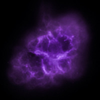 Крабовидная туманность в инфракрасном диапазоне излучения