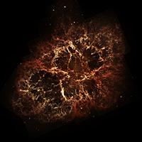 Крабовидная туманность в видимом диапазоне излучения