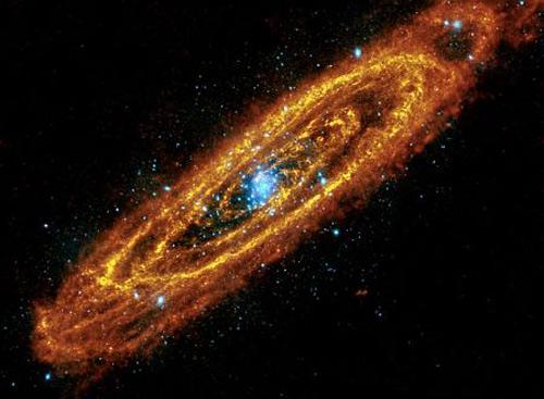 галактика ''Туманность Андромеды'' в объединенном волновом диапазоне