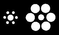 Иллюзия разной величины кругов