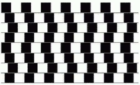 иллюзия непараллельных горизонтальных линий