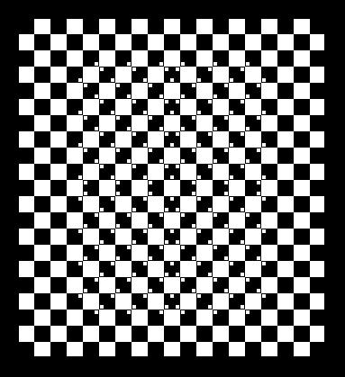 Иллюзия изогнутых квадратов