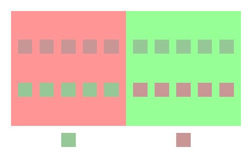 Иллюзия множества цветовых оттенков