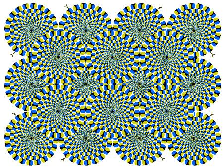 Иллюзия вращения кругов