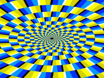 Иллюзия вращения кубиков