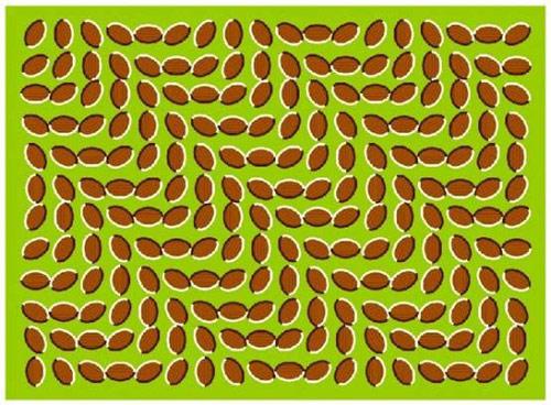 Иллюзия волн плавающих зернышек