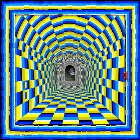 Иллюзия движения по коридору