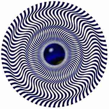Иллюзия волны из центра