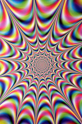 Фрактальная пульсирующая иллюзия
