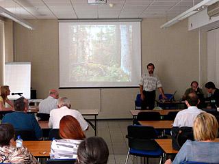 Презентация о проблемах Беловежской пущи на конференции ЮНЕСКО, Санкт-Петербурге, Россия