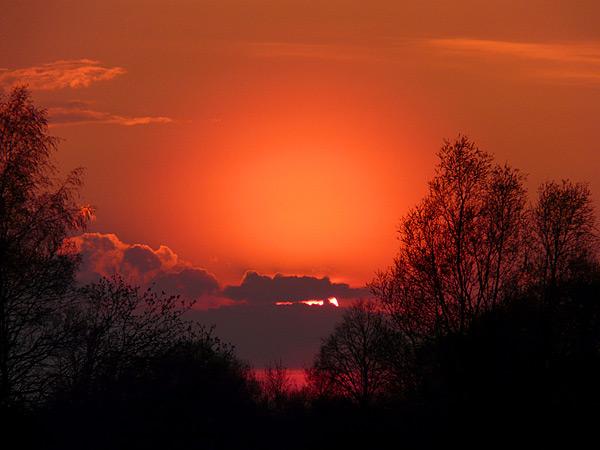 Закат солнца 22.04.2012