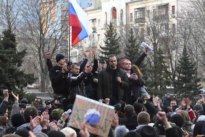 флаги России в Украине