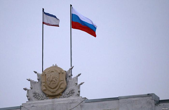 флаги России в Украине Крым