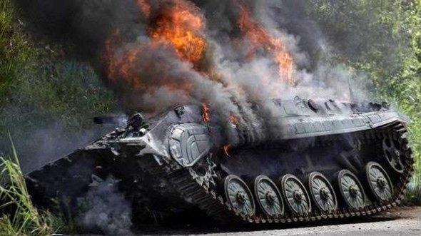 горящий танк