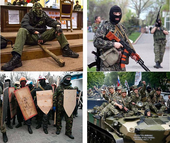 Бойцы Евромайдана и ДНР. Найдите 3 главных отличия
