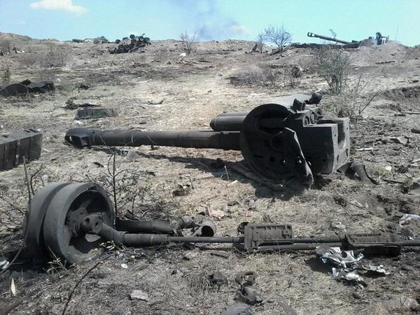 Только что разбили в хлам батарею САУ Акация украинских войск
