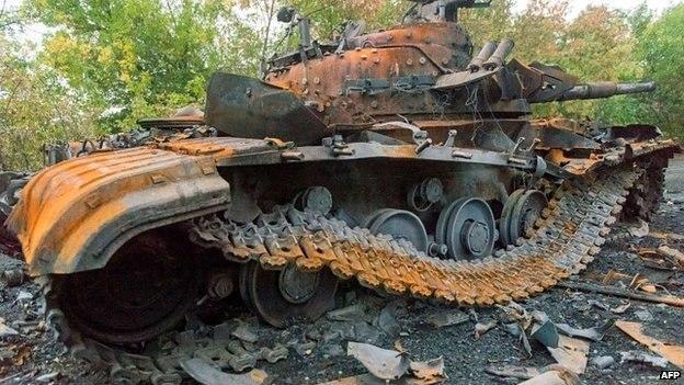 танк подбитый