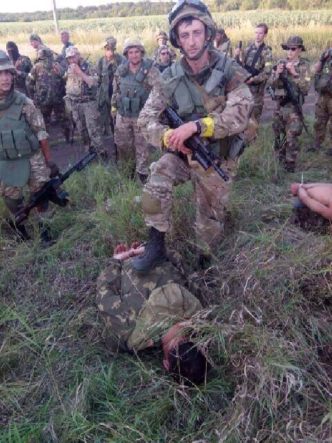 Захваченные в плен российские военные