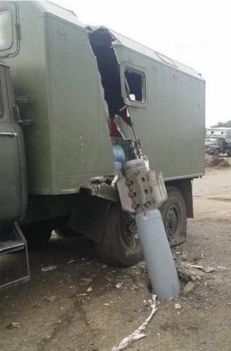 Неразорвавшаяся ракета пробила машину