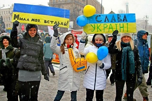 Украинки на Майдане