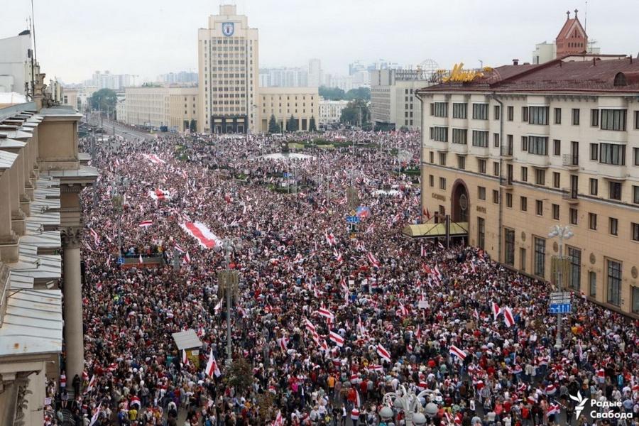 Марш протеста в Минске