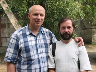 Вместе с экс-кандидатом в Президенты РБ Александром Владиславовичем Козулиным, Брест, 2005 г.