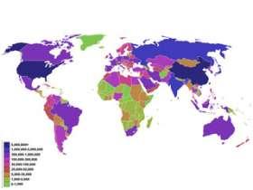 Карта, демонстрирующая выброс СО2 различных стран мира. Фото: Wikipedia.org