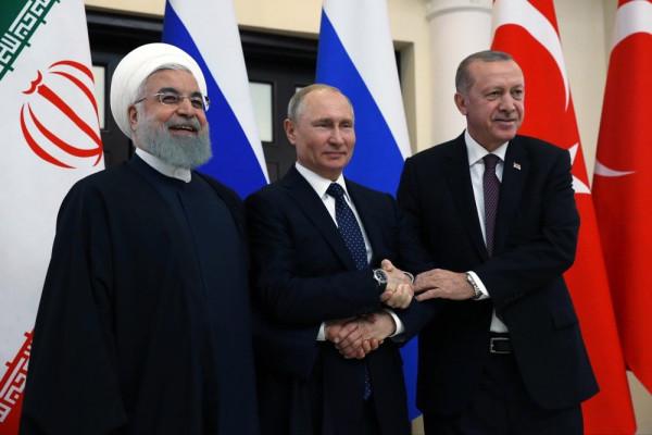 Лидеры России, Ирана и Турции выступили в поддержку территориальной целостности Сирии