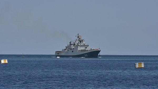 Корабли Черноморского флота России надежно защищают южнее рубежи Родины