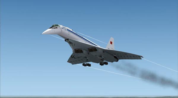 Пассажирский сверхзвуковой самолет на основе военного бомбардировщика  Ту-160