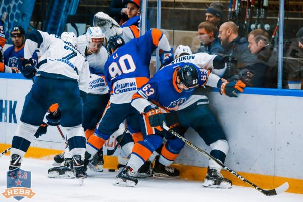 Зрелищное дерби «СКА-Нева» - «Динамо» порадовало хоккейных фанатов Питера