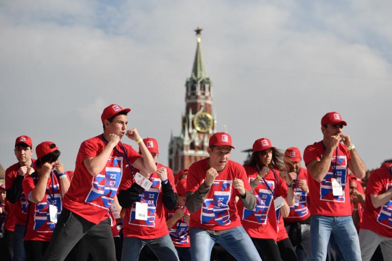 День российского бокса праздновали сегодня на Красной площади
