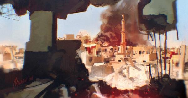 Ракка была разрушена бомбардировками ВВС западной коалиции, погибло много мирного населения