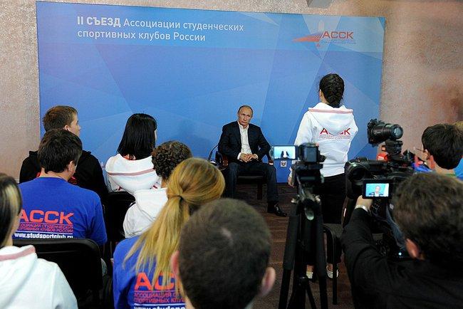 Владимир Путин поприветствовал участников Всероссийского форума студенческих спортивных клубов