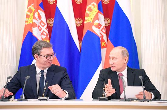 Владимир Путин проведет переговоры с сербским коллегой Александром Вучичем