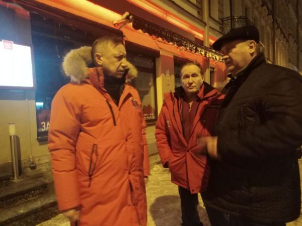 Врио Петербурга лично проверил качество уборки снега в городе после вчерашнего урогана